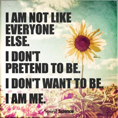 i am not like everyone else